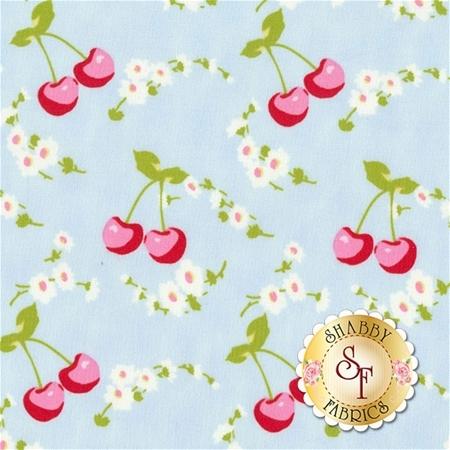 Rambling Rose PWTW134-BLUE by Tanya Whelan for Free Spirit Fabrics