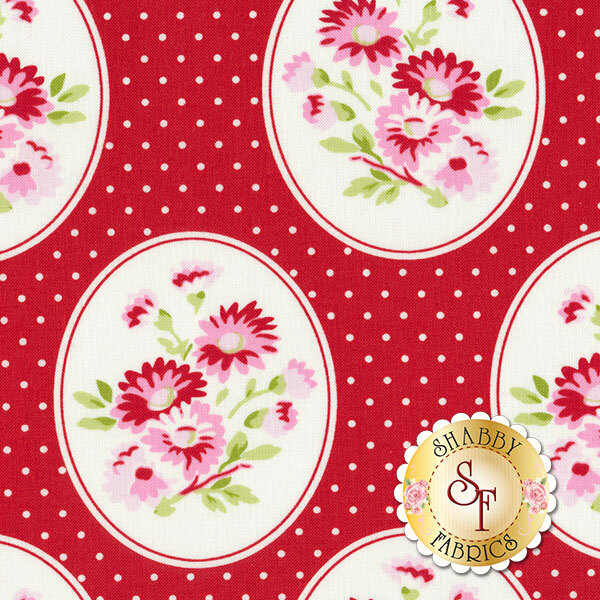 Rambling Rose PWTW135-RED by Tanya Whelan for Free Spirit Fabrics REM