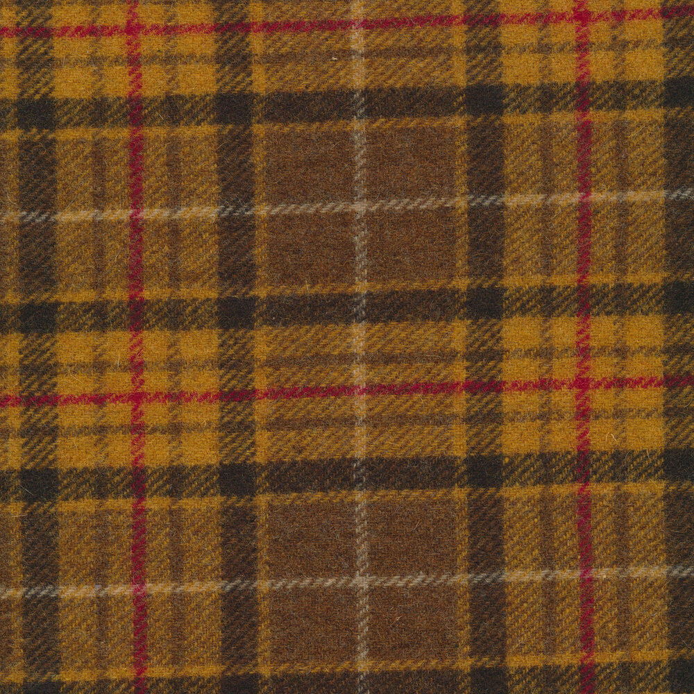 Yellow and Brown Plaid - Wool