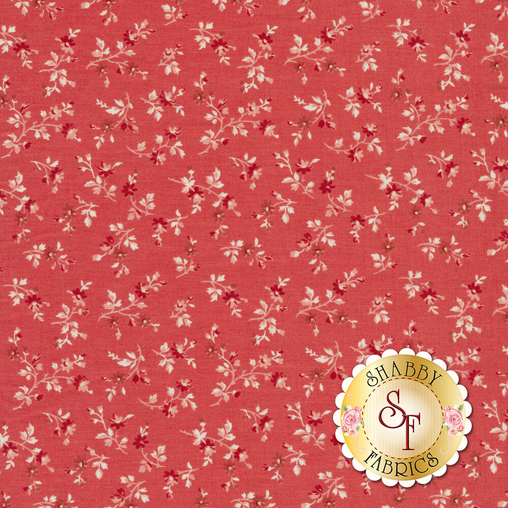 A tonal fabric with bunches of flowers on a pink background   Shabby Fabrics