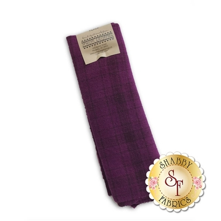 Hand Dyed Wool PRI 5059 Red Grape Plaid by Primitive Gatherings for Moda Fabrics