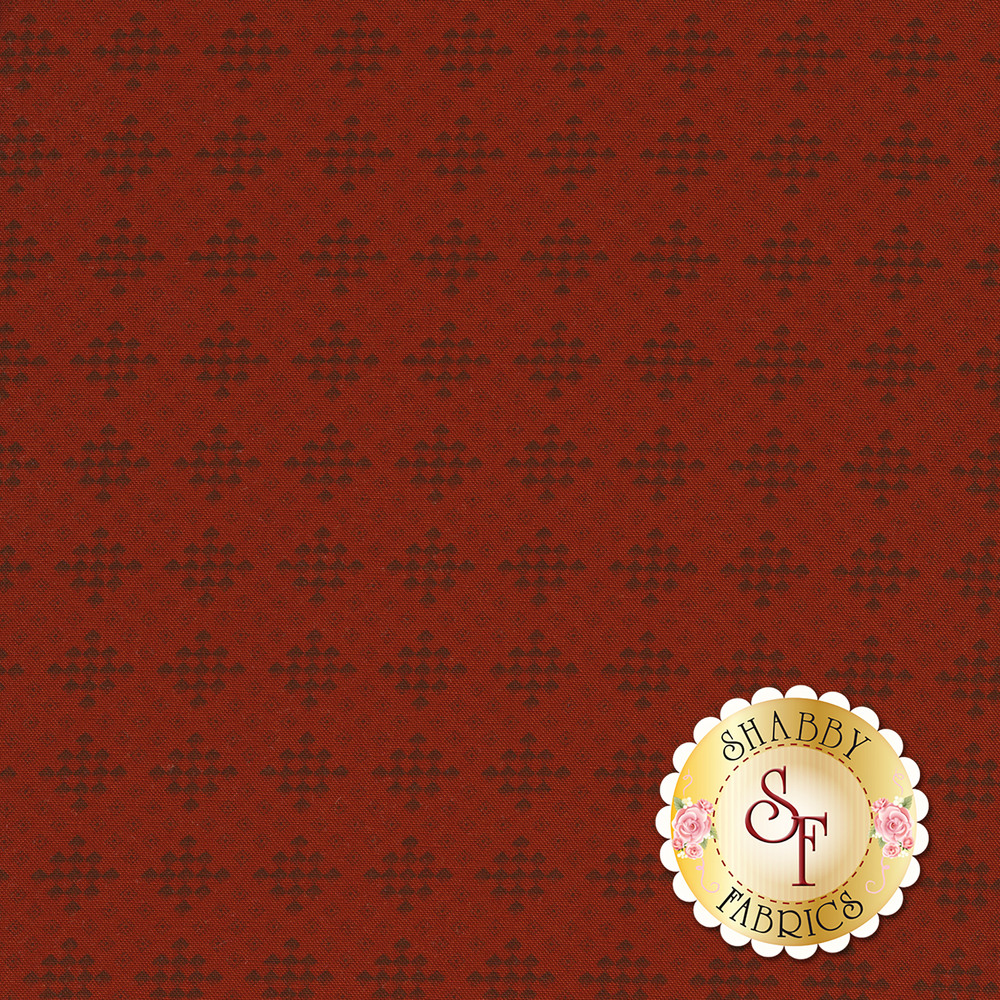 Black checker print on a light red background | Shabby Fabrics
