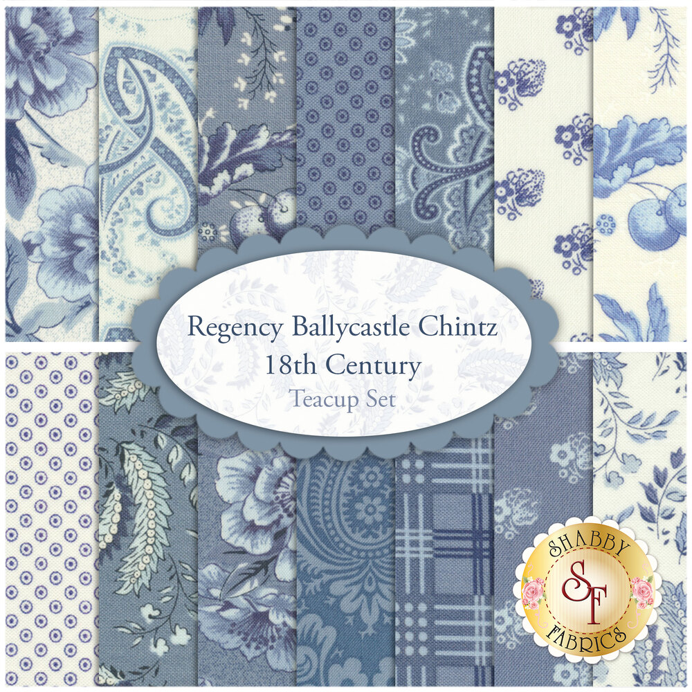 Regency Ballycastle Chintz 14 FQ Set - Teacup Set for Moda Fabrics