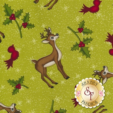 Reindeer Magic 8779-66 by Mary Jane Carey for Henry Glass Fabrics