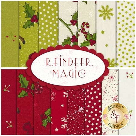 Reindeer Magic 15 FQ Set  by Mary Jane Carey for Henry Glass Fabrics
