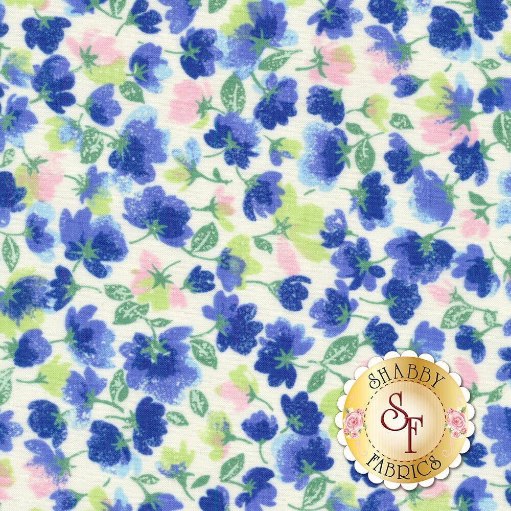 Rejuvenation 90305-B Blue Little Flowers