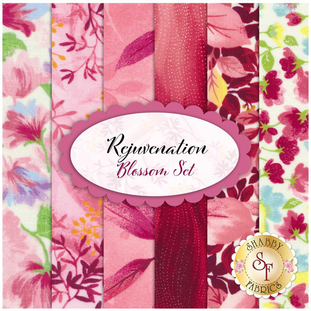 Rejuvenation 6 FQ Set - Blossom Set Available at Shabby Fabrics
