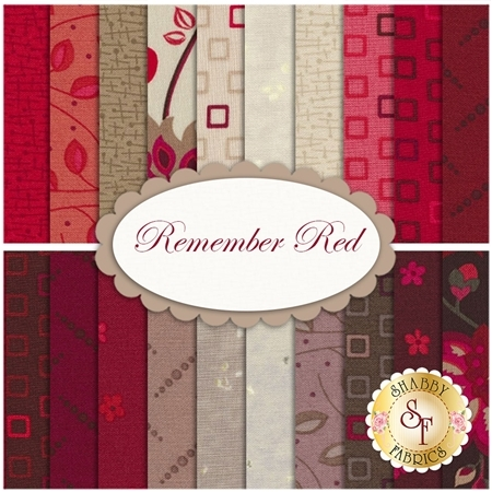 Remember Red  20 FQ Set by Marcus Fabrics