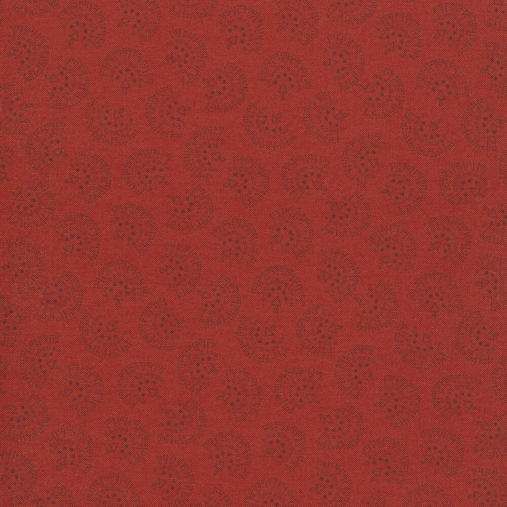 Fan ditsy print on red