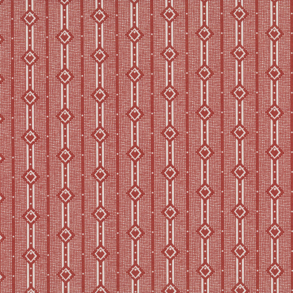 Red stripes with diamond designs