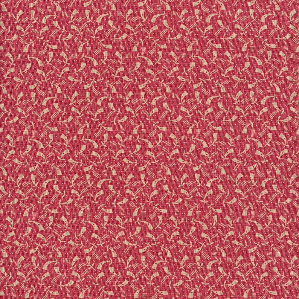 Tan ditsy print on pink