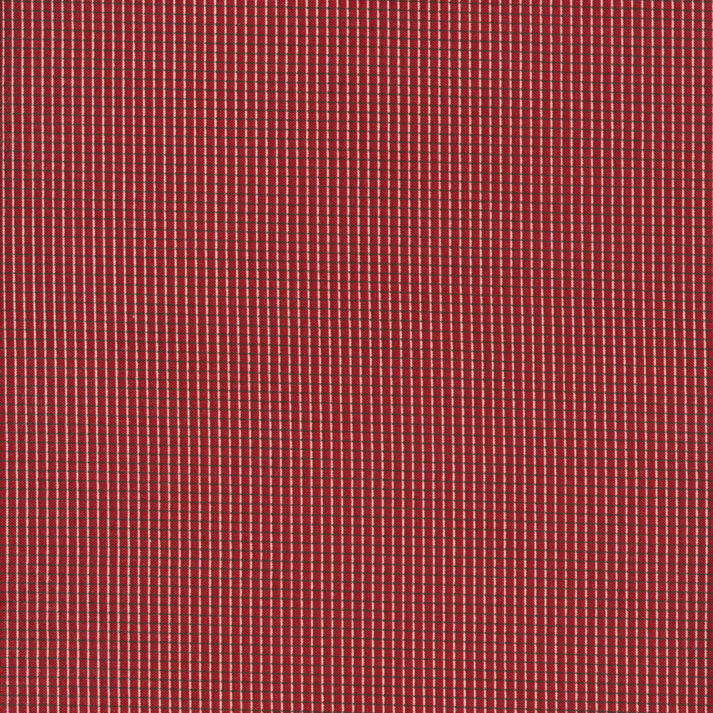 Crosshatch grid on a red background