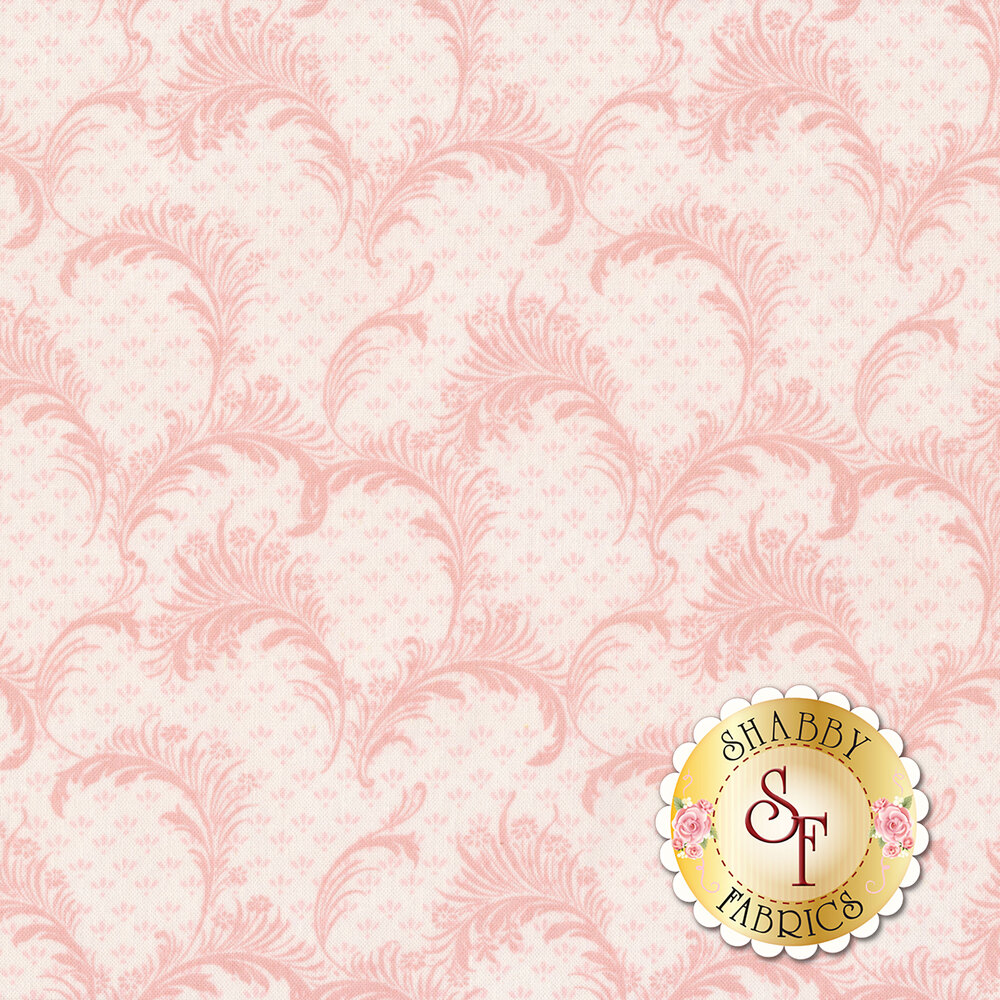 Tonal scrolls all over pink | Shabby Fabrics