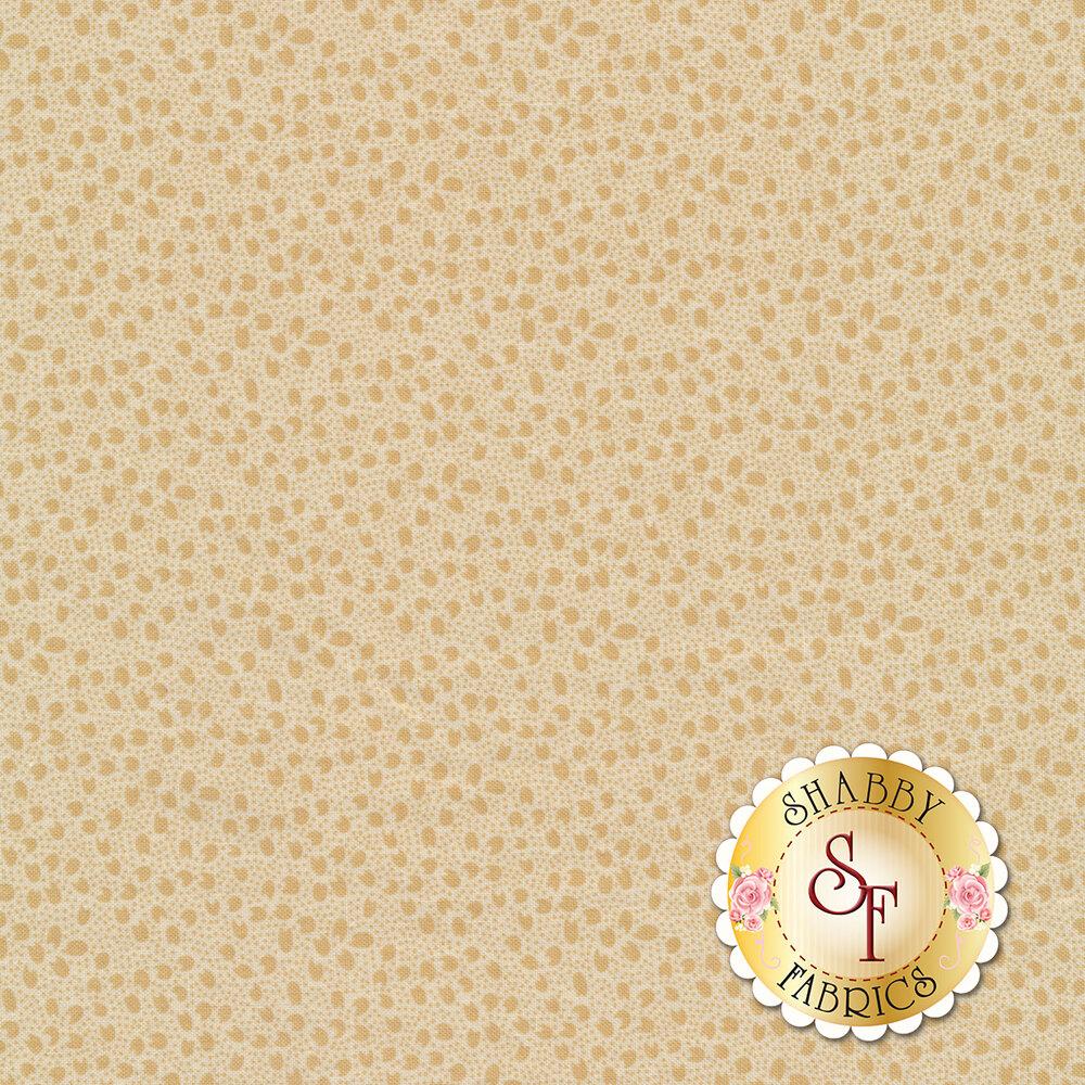 Tonal flower petals all over tan | Shabby Fabrics