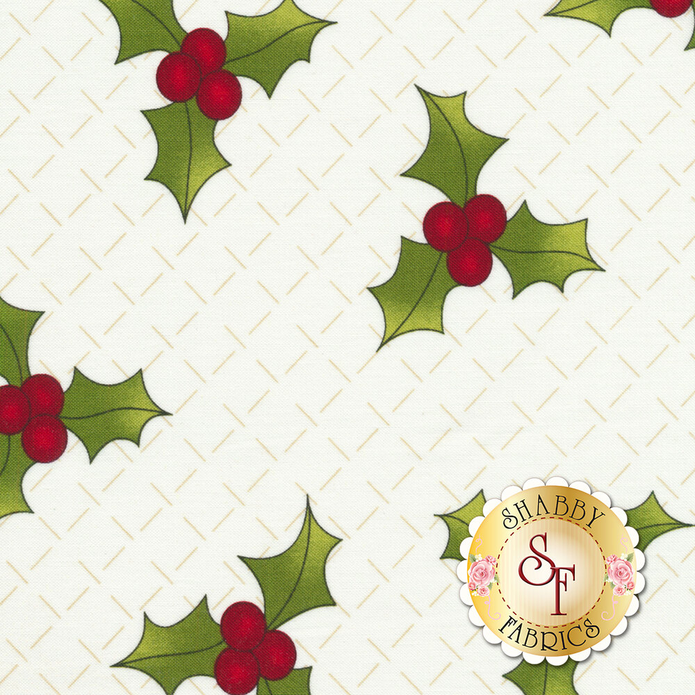 Ring In The Holly Days 2095-40 for Henry Glass Fabrics