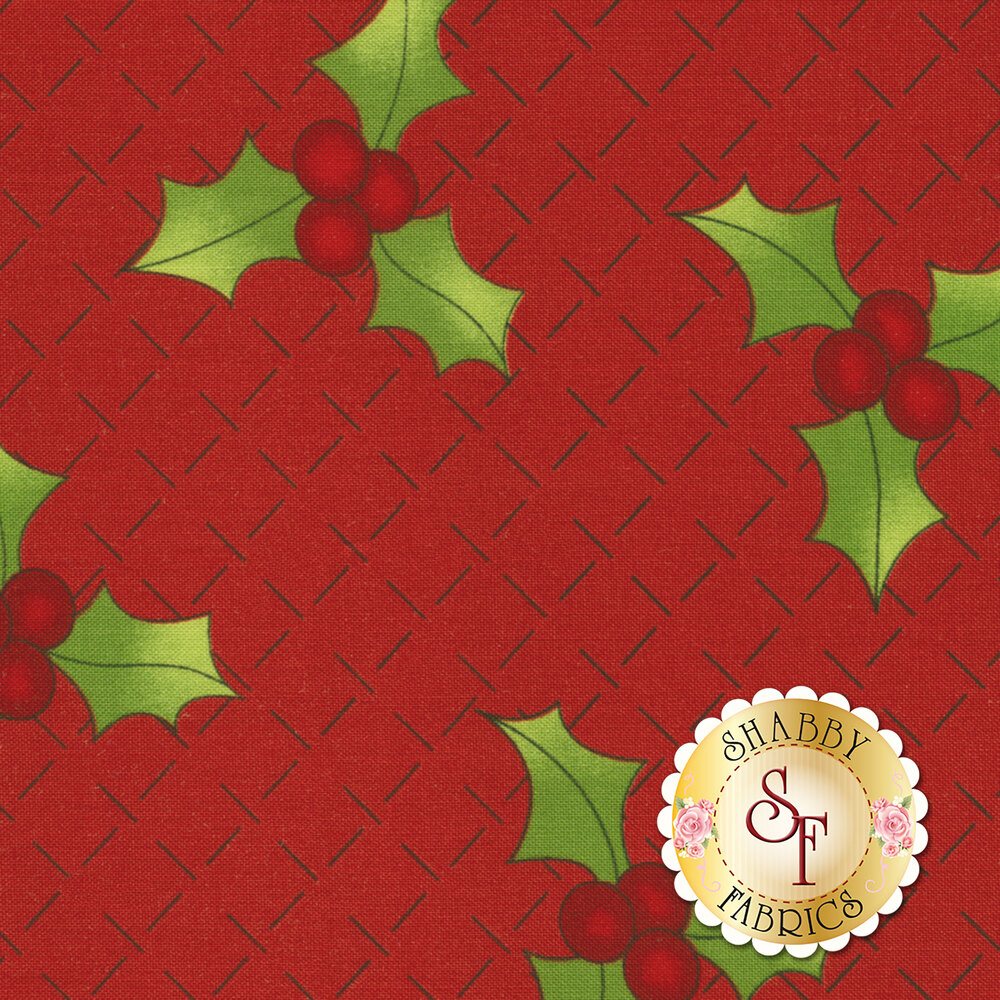 Ring In The Holly Days 2095-88 for Henry Glass Fabrics