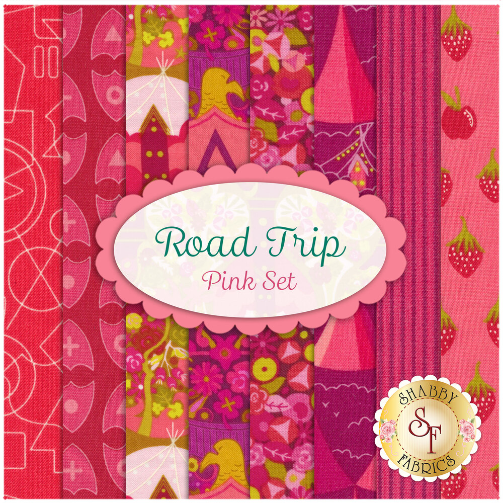Road Trip  8 FQ Set - Pink Set for Andover Fabrics