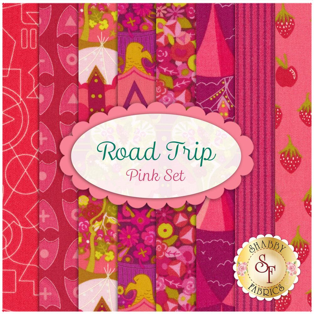 Road Trip  8 FQ Set - Pink Set for Andover Fabrics