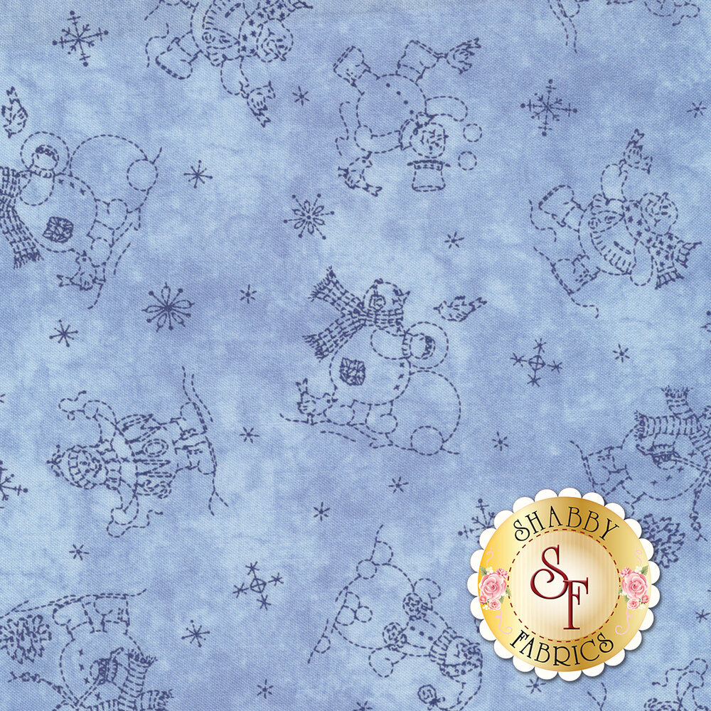 Roly-Poly Snowmen 8413-B for Maywood Studio Fabrics