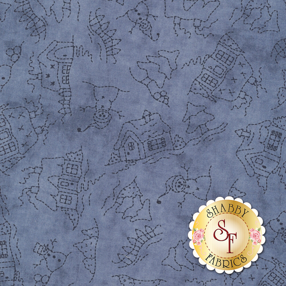 Roly-Poly Snowmen 8414-B for Maywood Studio Fabrics