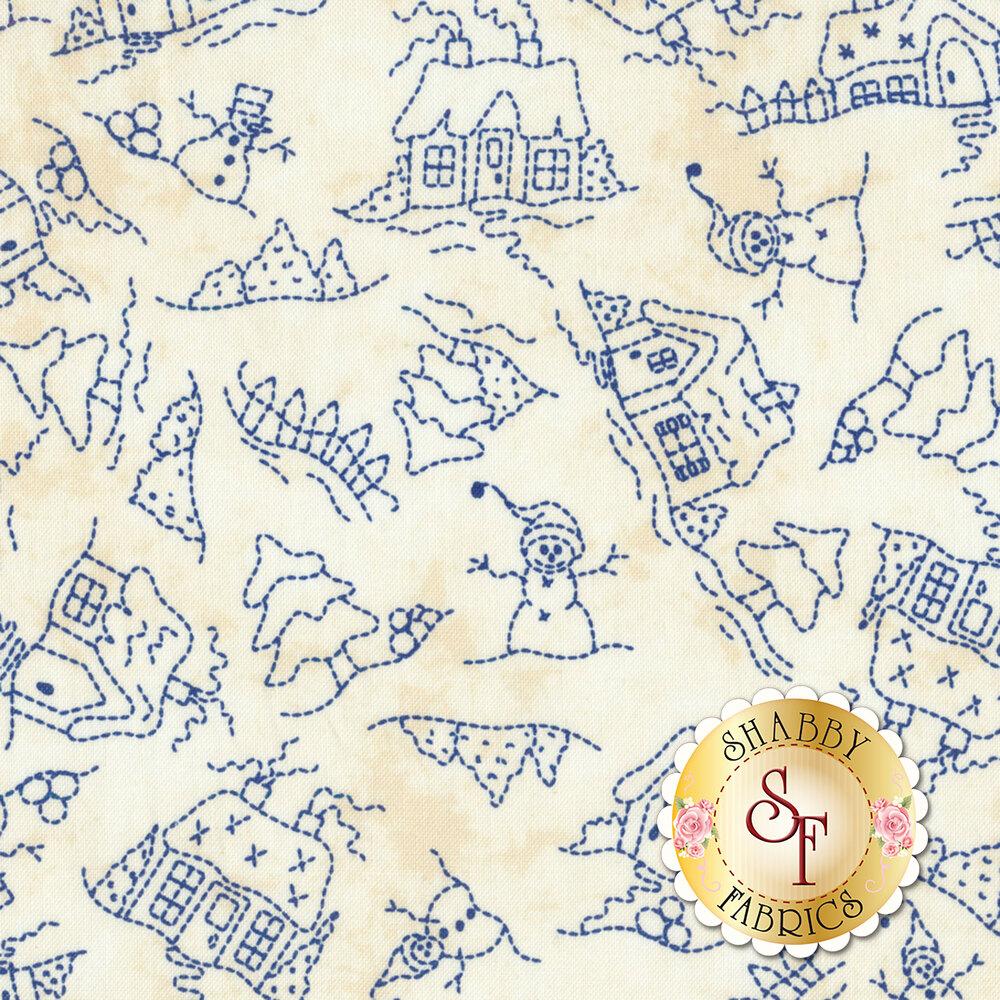 Roly-Poly Snowmen 8414-E for Maywood Studio Fabrics