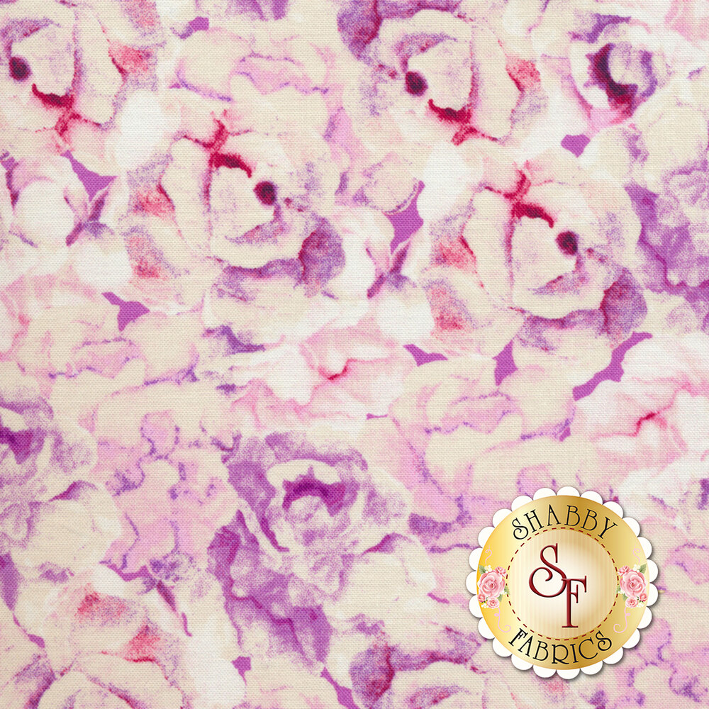 Romance 50216-6 Pink Packed Roses by Windham Fabrics