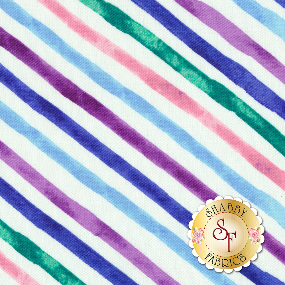 Romance 50218-1 White Romance Stripe by Windham Fabrics