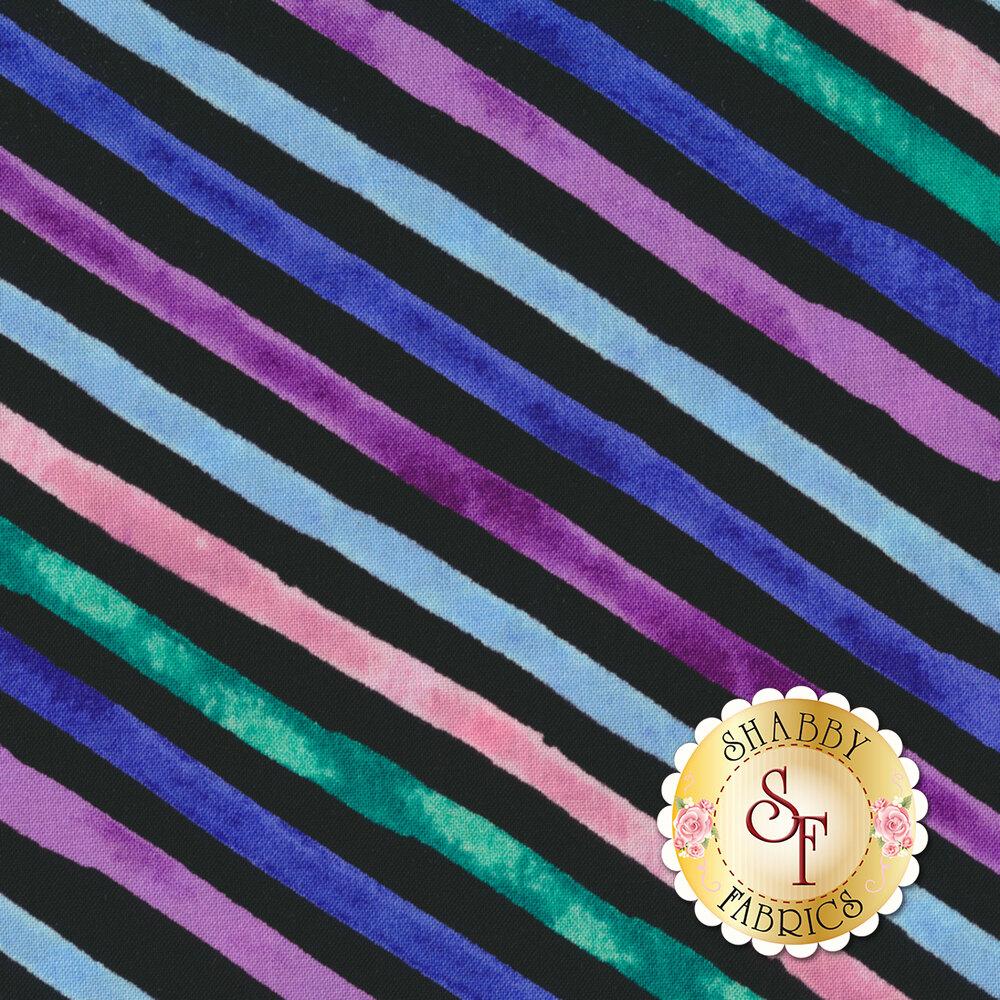 Romance 50218-2 Black Romance Stripe by Windham Fabrics