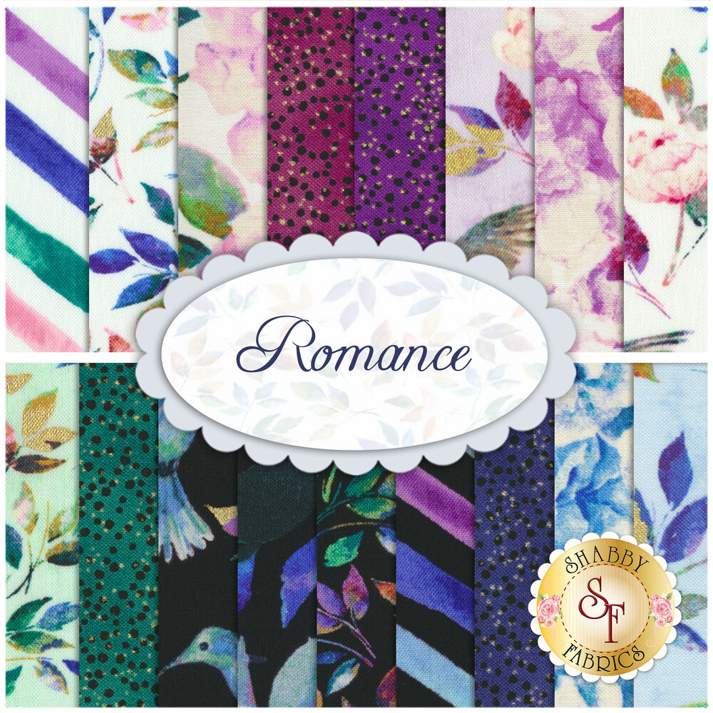 Romance  17 FQ Set by Whistler Studios for Windham Fabrics
