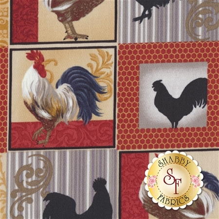 Rooster Inn 112-31121 by Paintbrush Studio for Fabri-Quilt Fabrics