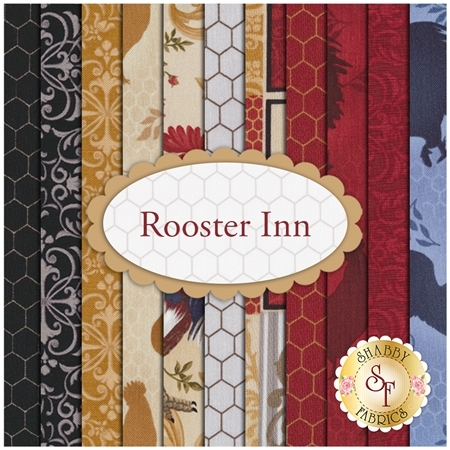 Rooster Inn 11 FQ Set by Paintbrush Studio for Fabri-Quilt Fabrics