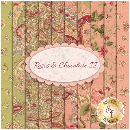 Roses & Chocolate II  10 FQ Set by Moda Fabrics