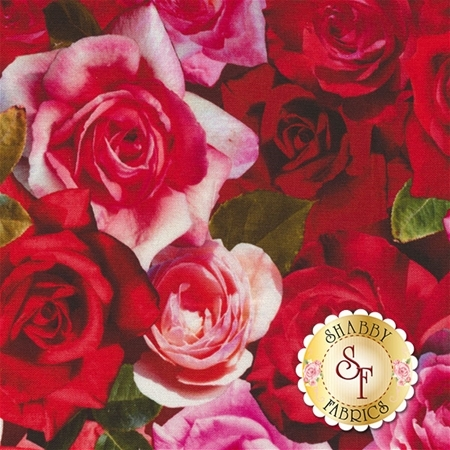 Roses 26401-RED1 By Red Rooster Fabrics