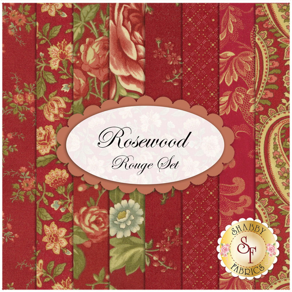 Rosewood  8 FQ Set - Rouge Set by 3 Sisters for Moda Fabrics