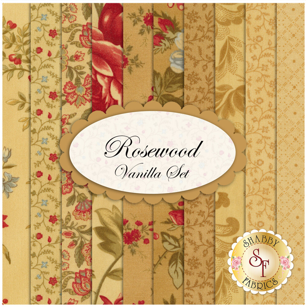 Rosewood  10 FQ Set - Vanilla Set by 3 Sisters for Moda Fabrics