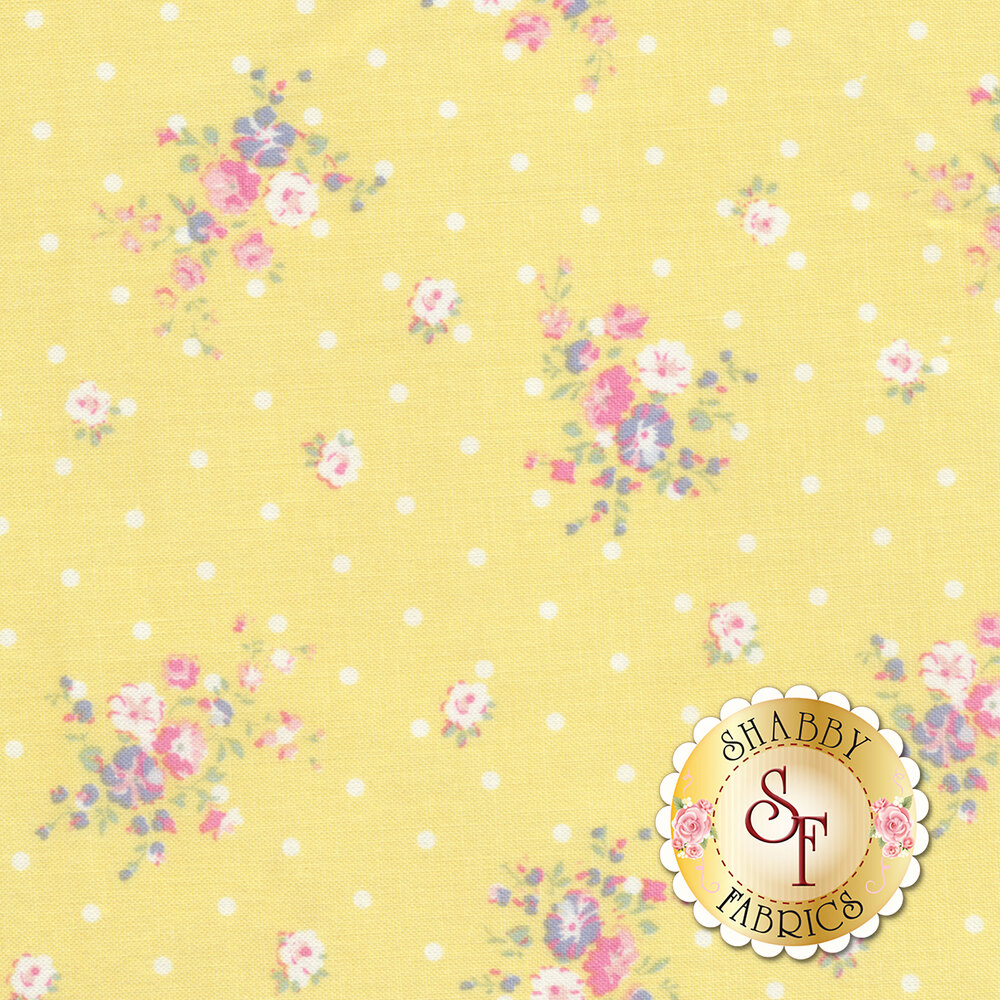 Roslyn 50938-5 Yellow Dotted Floral from Windham