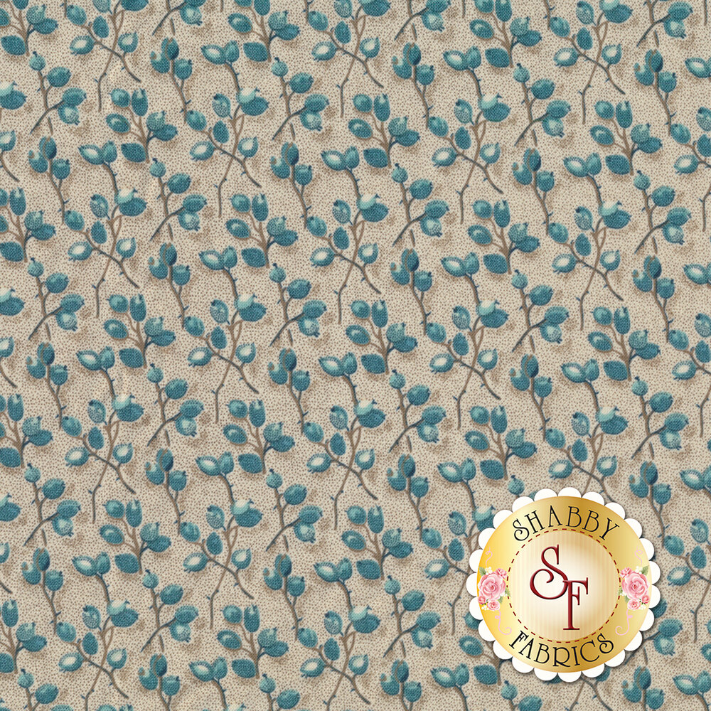 Barberry twigs with flower buds | Shabby Fabrics