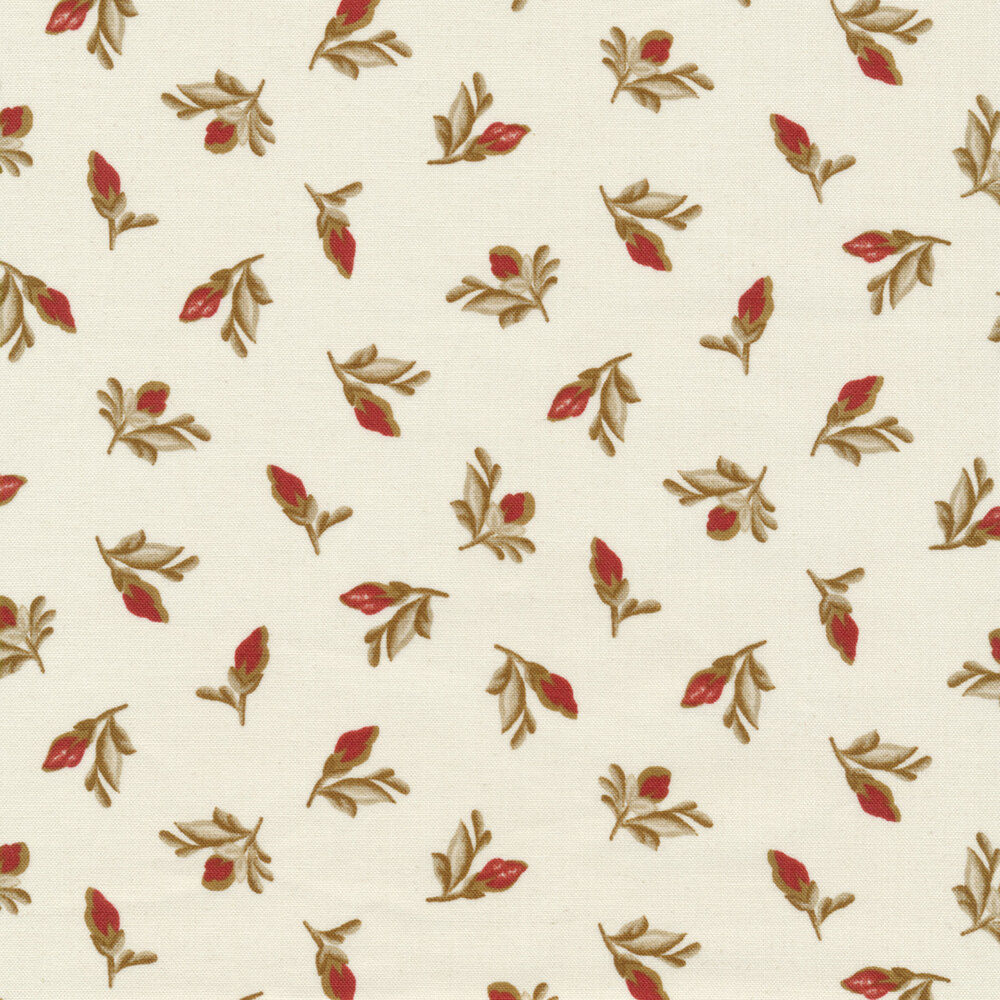 Tossed rose buds on a light pink background | Shabby Fabrics