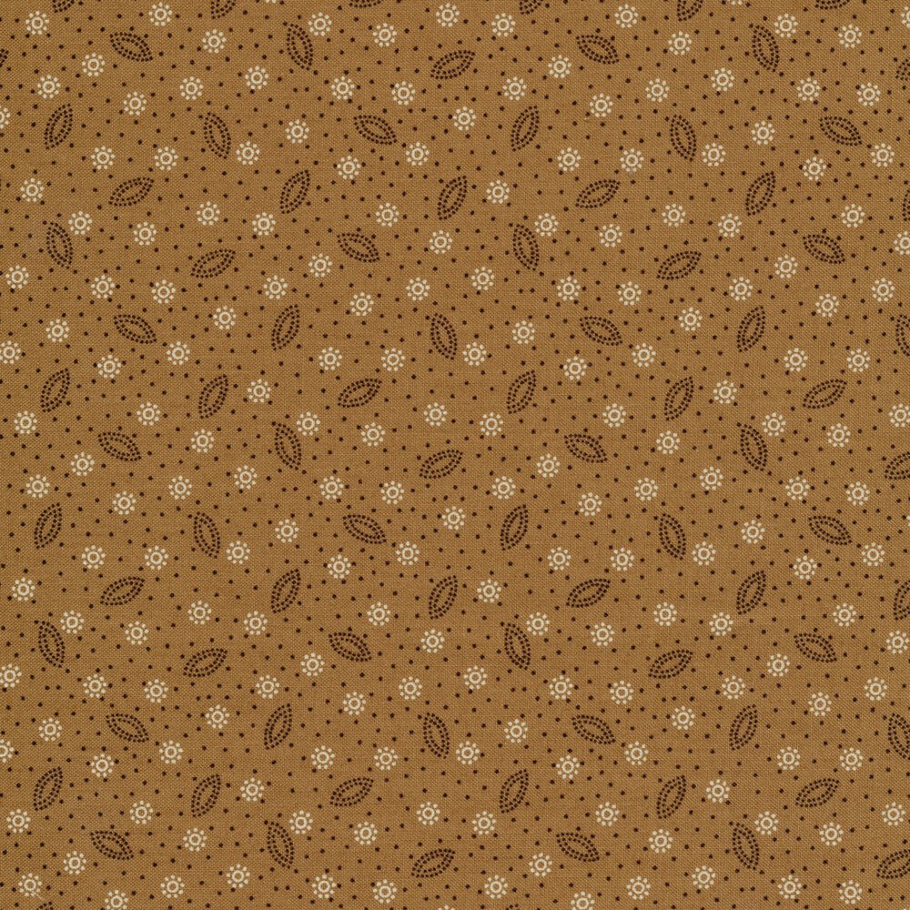 Dot clusters and scattered dots on a tan background | Shabby Fabrics