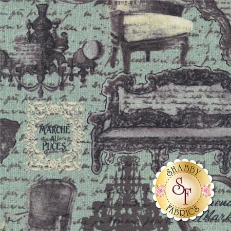 Rue 36 4735-5 French Market Fresca by Bristol Bay Studios for Benartex Fabrics- REM