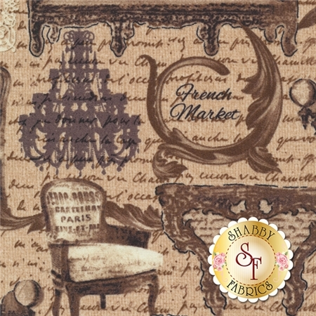 Rue 36 4735-70 French Market Honey by Bristol Bay Studios for Benartex Fabrics