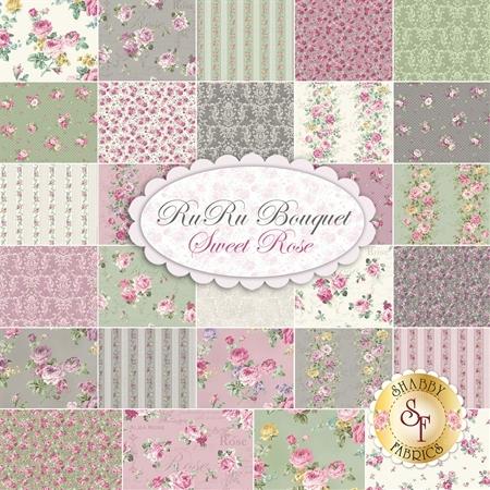 Ruru Bouquet Sweet Rose  Yardage by Quilt Gate Fabrics