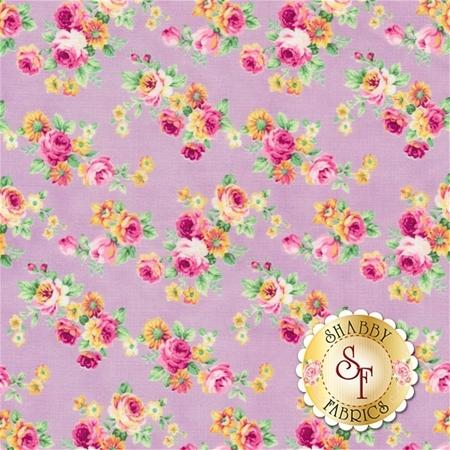 Ruru Bouquet Tea Party RU2270-14E by Quilt Gate Fabrics- REM
