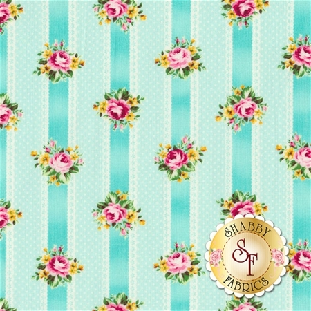 Ruru Bouquet Tea Party RU2270-15C by Quilt Gate Fabrics