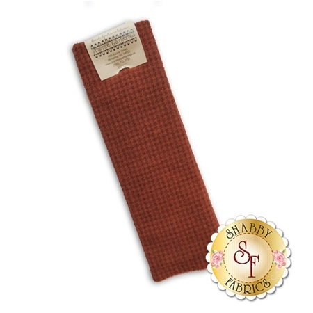 Hand Dyed Wool PRI 5082 Rust Houndstooth by Primitive Gatherings for Moda Fabrics