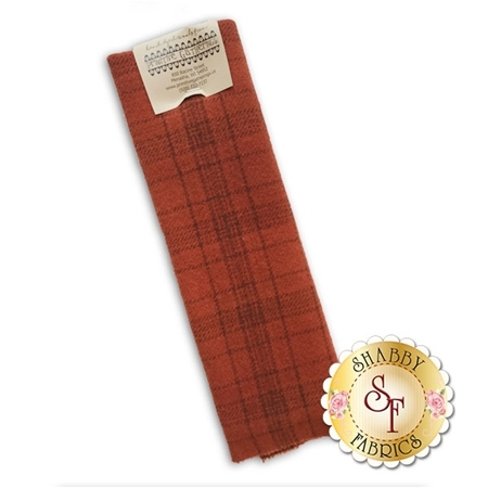 Hand Dyed Wool PRI 5083 Rust Plaid by Primitive Gatherings for Moda Fabrics
