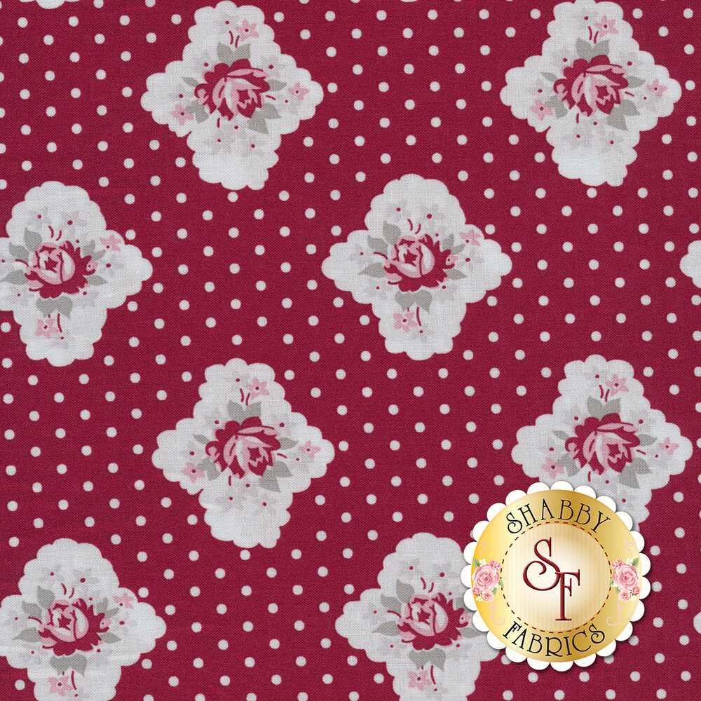 Rustic Romance C7061-RED by Penny Rose Fabrics