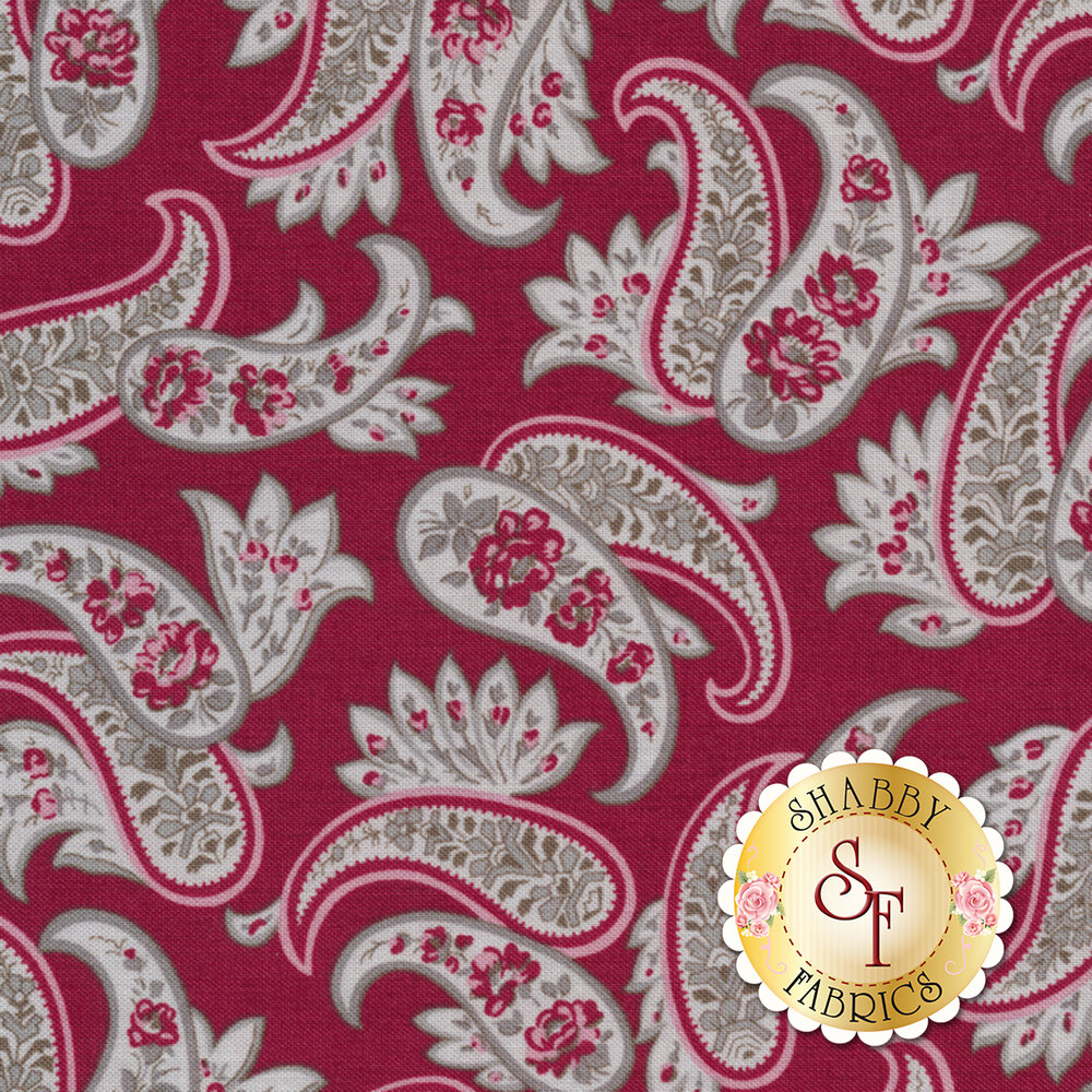 Rustic Romance C7062-RED by Penny Rose Fabrics