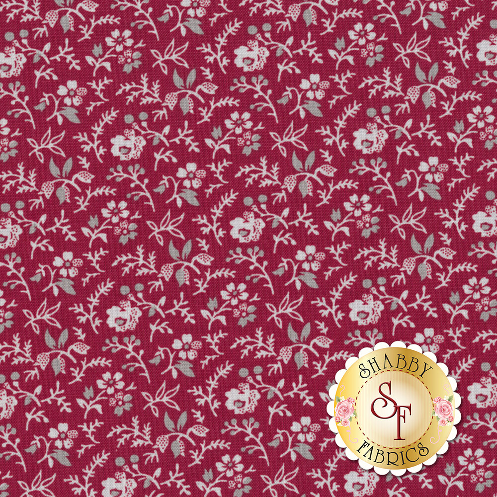 Rustic Romance C7066-RED by Penny Rose Fabrics
