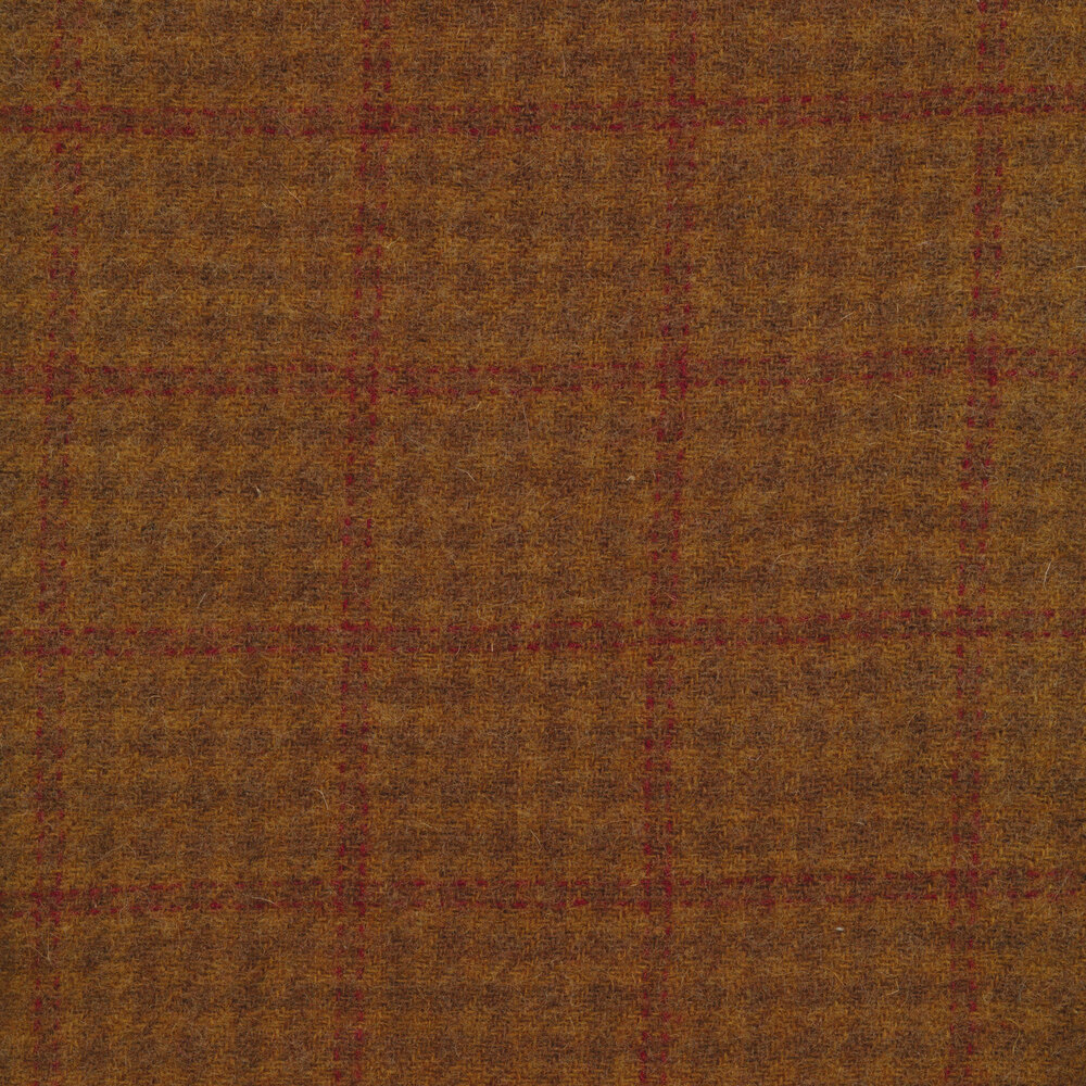 Orange and Red Plaid - Wool